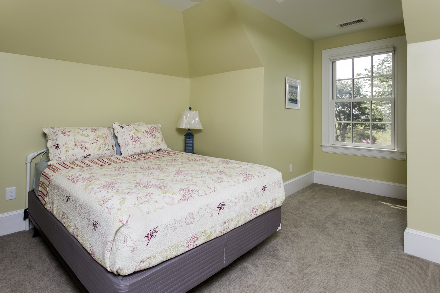 1 of 2 queen suite bedrooms in Cappy's Lodge, House Island, Portland Maine