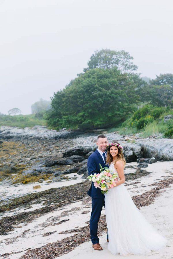 House Island wedding of Shannon & David